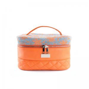 China Travel Wash Bag  Large Capacity Double Zipper Women PU Cosmetic Bag wholesale
