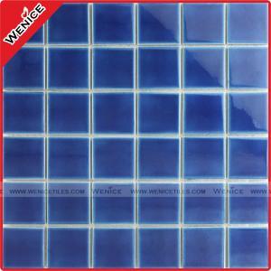 China China manufacturer dark blue pool mosaic tile wholesale