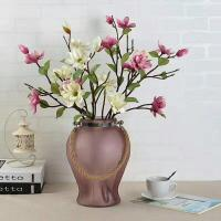 China Handmade Home Sand Decorative Glass Vases Indoor Colored With Hemp Rope wholesale