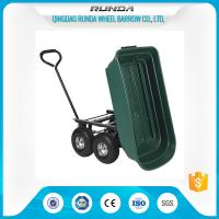 China Landscape Utility Garden Mesh Cart Platform Structure 150kgs Load For Yard Waste wholesale