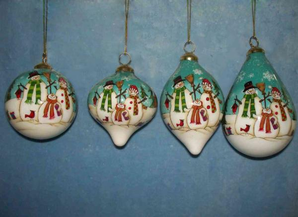Wholesale glass ornaments images for Glass christmas balls crafts