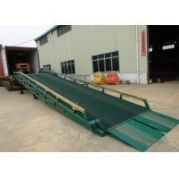 China 10 Ton - 15 Ton Portable Steel Loading Dock Ramps With Solid Tyres wholesale