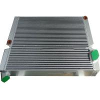 China Plate Aluminum Air Compressor Oil Cooler , Compressed Hydraulic Oil Cooler Radiator on sale