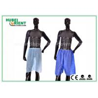 China Blue Non Woven Men Silk Boxer Shorts For Spa Massage / Hair Saloon , Free Sample wholesale