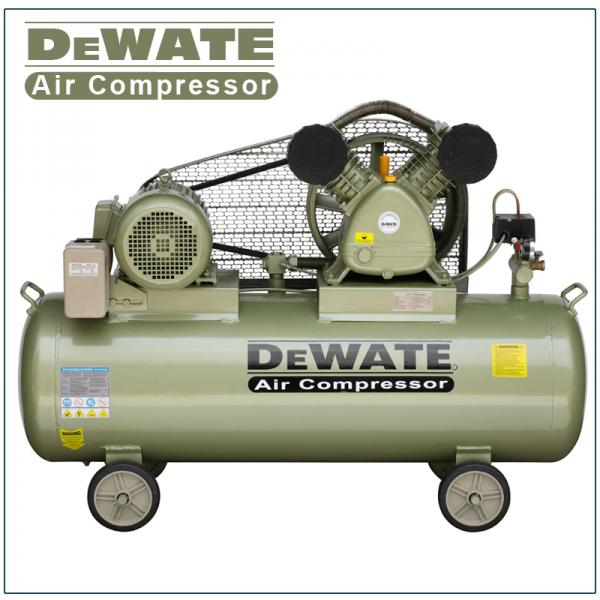 Quality Single Phase Portable Air Compressor With Tank 100 L for sale