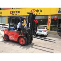 China Pneumatic Tire Diesel Operated Forklift , Forklift 3 Ton Lower Consumption wholesale