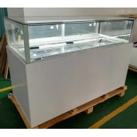 China 1.8m Cookie Cake Pastry Glass Display Cabinet Cooler Showcase With Sliding Drawer on sale