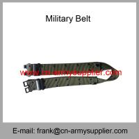 China Wholesale Cheap China Security PP Army Green Military Metal Buckle Army Belt wholesale