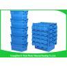 China Envases de plástico grandes logísticos de empaquetado, totalizador de la distribución con la mudanza rentable con bisagras de la tapa wholesale