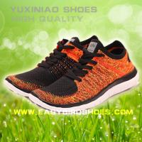 China high quality sport sneaker fashion shoes for female, women fly fabric sport shoes running from china on sale
