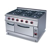 Buy cheap Commercial Cooking Lines , Free Standing 4 / 6 American Burners Gas Range With from wholesalers