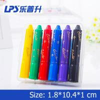 China 6 Colors Rotatable Water Soluble Crayons Non Toxic Crayons Eco Friendly wholesale