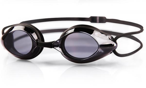 Quality PC Lens Optical Swimming Goggles Black Color UV Shield Fashion Design for sale