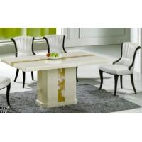 China luxury modern rectangle marble dining room furniture table wholesale
