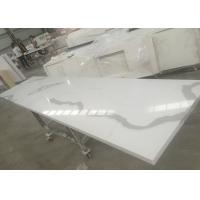 China Solid Surface Calacatta Quartz Slab Countertops With White Vein OEM / ODM Avaliable on sale