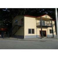 China Two Floors Villa Type Sandwich Panel Steel Building House Prefab With Balcony wholesale