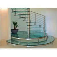 Buy cheap Carbon Steel Glass Custom Spiral Staircase Customized Size DIY Installation from wholesalers