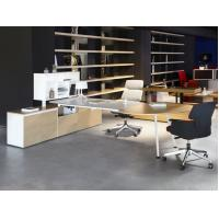China manager executive office desk wooden office desk on sale 2400*1200*750mm oak color luxury wholesale