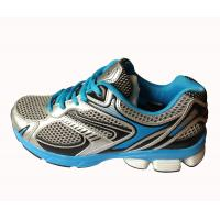 China Mens running shoes grey/blue color,comfortable wearing with cushion MD sole wholesale
