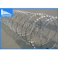 Buy cheap Zinc Coated Concertina Barbed Wire For Highway / Railway Protection from wholesalers