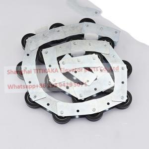 China Schinlder Escalator Spare Parts , SWE 17 Sections 1.37m Escalator Rotary Chain on sale
