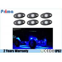 China Blue LED Rock Light Kits with 6 pods Lights for Jeep Off Road Truck Car ATV SUV Blue wholesale