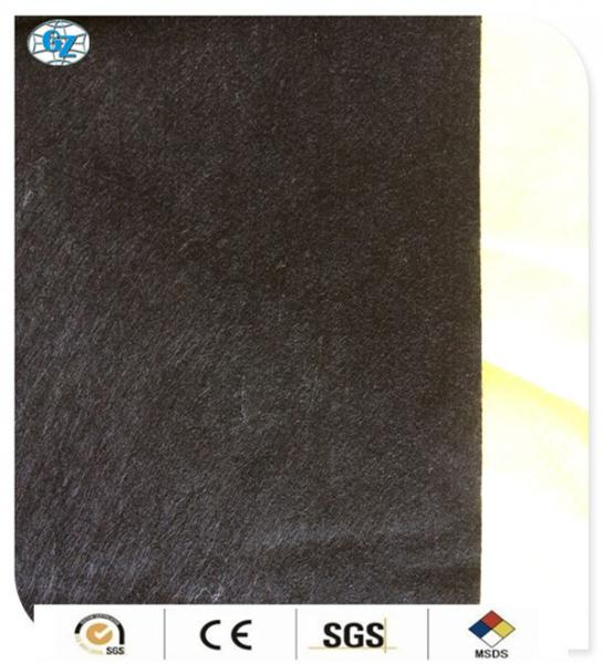 Quality Black Bamboo Charcoal Fiber Spunlace Nonwoven Fabric , Smooth / Soft-touch for sale