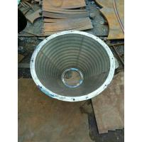 China Stainless Steel Basket Strainer , Wedge Wire Screen Filter Baskets Wear Resistant on sale