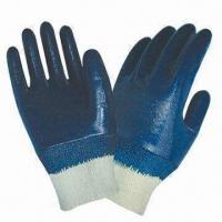 China Nitrile-coated Working Gloves with Knit Wrist and Cotton Jersey Lining on sale