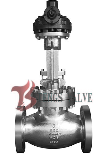 Quality API Cast Steel Butt Weld Globe Valve Hardfaced HF Bolted Bonnet Bevel Gear Operated 900LB for sale