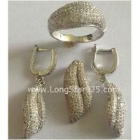 Buy cheap cz set, 925 silver jewelry set from wholesalers