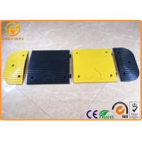 China Yellow Jacket Durable Parking Lot Bumpers Rubber UV resistant 500 * 400 * 50 mm on sale
