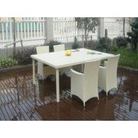 China Comfortable Fashion Rattan Garden Dining Sets For Commercial Hotel on sale
