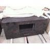 China Tan Brown granite vanity tops with backsplash wholesale