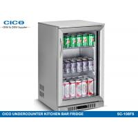 China Double Layer Door Kitchenaid Undercounter Refrigerator Beer Cooler Fridge 135W wholesale