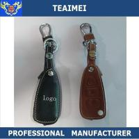 China Real Car Brand Logo Leather Key Pouch Key Case Cover Remote Control wholesale
