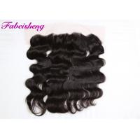 China Natural Color Curly Lace Frontal Closure , 13*4 Lace Frontal Closure With Baby Hair wholesale