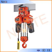 China High Efficient 25 Ton / 40 Ton Electric Chain Hoist With Motorized Trolley on sale