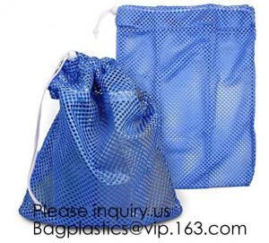 China Lingerie Mesh Bags OEM Mesh Laundry Bags,Large Capacity Mesh Drawstring Laundry Bag Washable Reusable Cloth Bag Promotio on sale