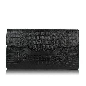 China Wholesale Crocodile Leather Clutch Bag Clutch Purse for Women wholesale