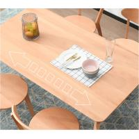 China Modern Dining Room Solid Wood Table Rectangle Shaped Simple Design wholesale