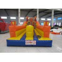 China Adult Inflatable Sports Games 2 Lane Bungee Run Inflatable Bungee Jump 10 X 3 X 3.5m wholesale