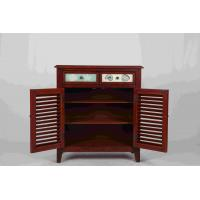 Quality Walnut Office / Home Storage Cabinets With Doors Soild Wood L81*W38.5*H91CM for sale