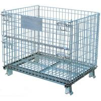 China Collapsible Wire Mesh Container Basket Stillage Cage Storage Pallet Bin Stackable on sale