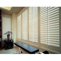 China China Aluminum or PVC material white color louver window plantation shutters wholesale
