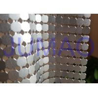 China 8 Mm Corrosive Resistance Silver Metal Fabric Colorful Rings Room Divider on sale