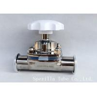 China Manual Stainless Steel Diaphragm Valve Two Way With Clamped Ends , Finely Finished Surface wholesale