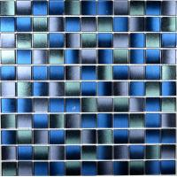 China 25x25x4mm crystal glass mosaic tile decorative floor and wall mosaic wholesale