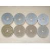 China #50 #100 #200 #400 125mm White Wet Polishing Pad Thickness 2.5-3.0mm wholesale