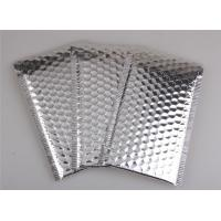 China Aluminum Foil Metallic Bubble Mailers Silver Color Self Sealing For Postal Packaging wholesale